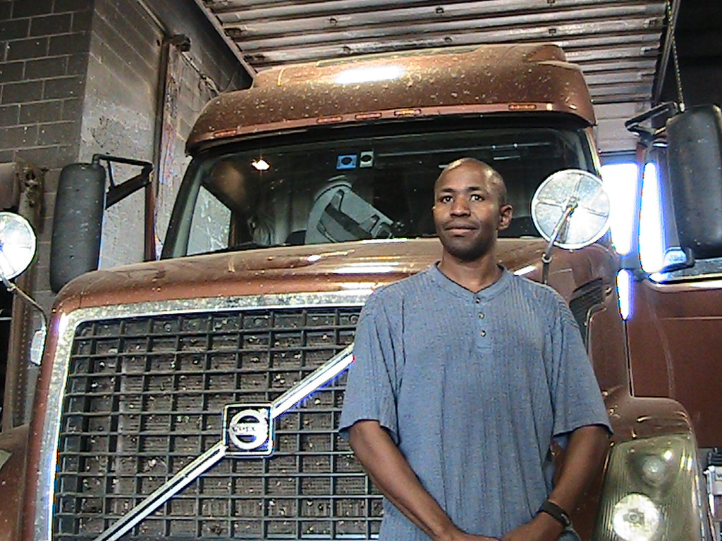 Haywood Reed standing next to his truck # 294c