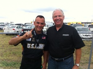 NCI Director of Recruiting spends the day with NHRA champion, Tony Schumacher