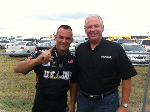 NCI Director of Recruiting spends the day with NHRA champion, Tony Shumacher