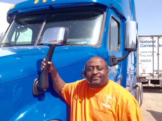 Darrell poses with his NCI truck