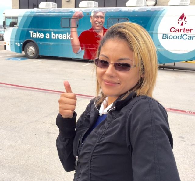 Laura Garcia Prepares to Donate