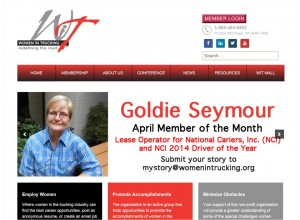 Goldie Seymour on the Cover of Women In Trucking