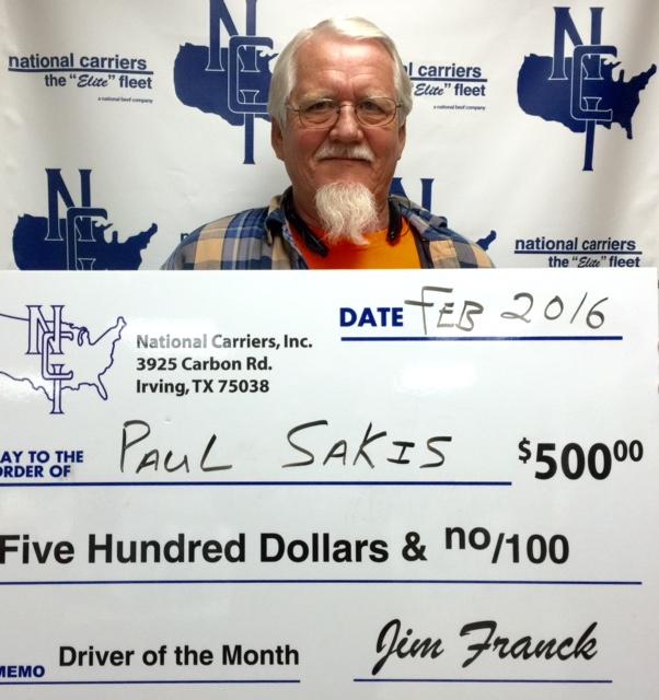 Paul Sakis Big Check