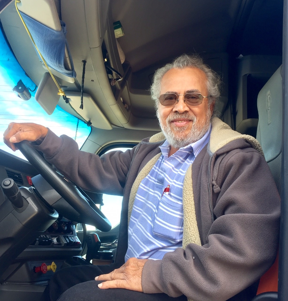 Miguel Pena in cab
